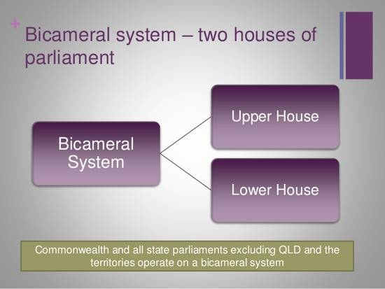 bicameral parliamentary system essay Government australia , a federal parliamentary democracy, is an independent self-governing state and a member of the commonwealth of nations the constitution of australia, which became effective in 1901, is based on british parliamentary traditions, and includes elements of the united states system.