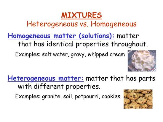 7 Facts About Homogeneous And Heterogeneous Mixtures