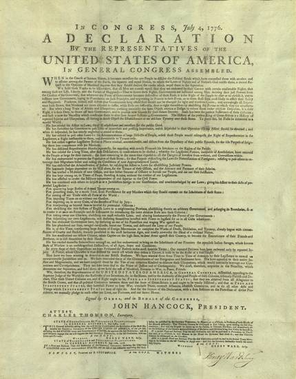 history of the declaration of independence The declaration of independence action of second continental congress, july 4, 1776 the unanimous declaration of the thirteen united states of america.