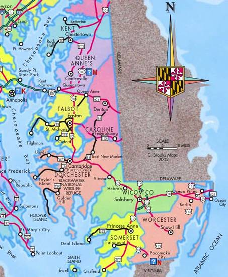 eastern shore maryland map The Eastern Shore Of Maryland eastern shore maryland map