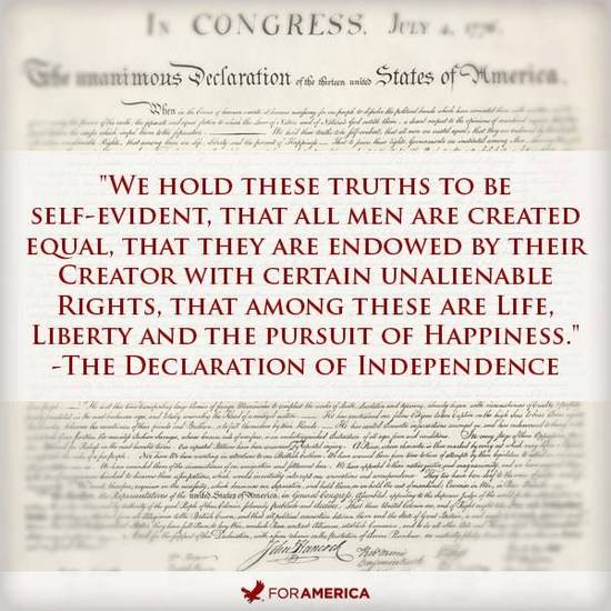 freedom and equality among men in the declaration of independence The declaration of independence has been described as the most important document in human history here, in the memorable language of the famous preamble, a hundred and ten words fatally undermined the political basis of the old order and proclaimed a new era in which free peoples would.