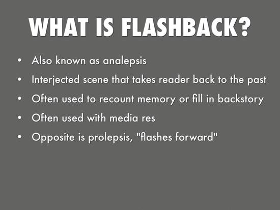 6 facts about flashbacks