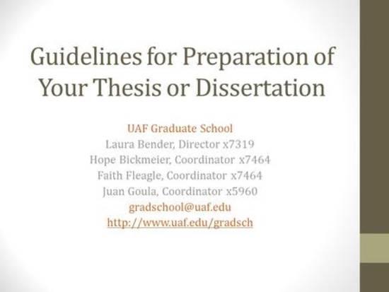 graduate thesis preparation Thesis preparation guide graduate college arkansas tech university tomlinson 113 russellville, ar 72801 updated february 7, 2017.