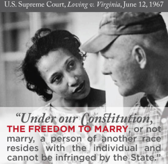 loving v virginia introduction facts legal Loving v virginia, 388 us 1 (1967) is a landmark civil rights decision of the united states supreme court, which invalidated laws prohibiting interracial marriage the case was brought by mildred loving (née jeter), a black woman, and richard loving, a white man, who had been sentenced to a year in prison in virginia for marrying each other.